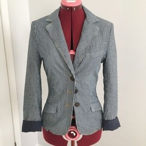 Stripped Cotton Blazer